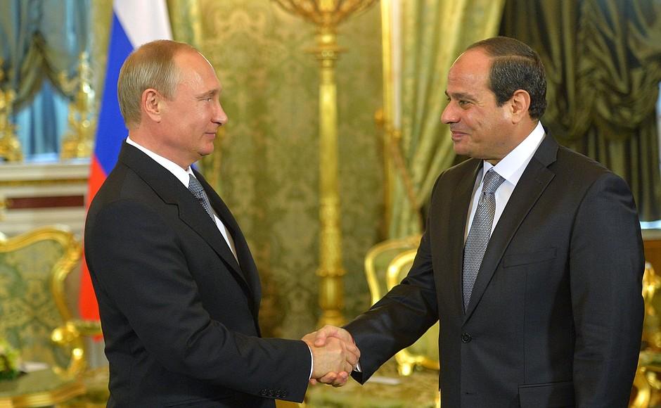נשיא מצרים, עבד אל פתח א-סיסי עם נשיא רוסיה ולדימר פוטין