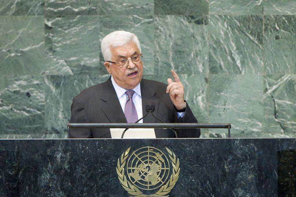 """עבאס במליאת האו""""ם (צילום: UN)"""
