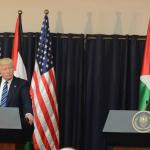 עבאס וטראמפ (צילום: סוכנות ידיעות פלסטינית)