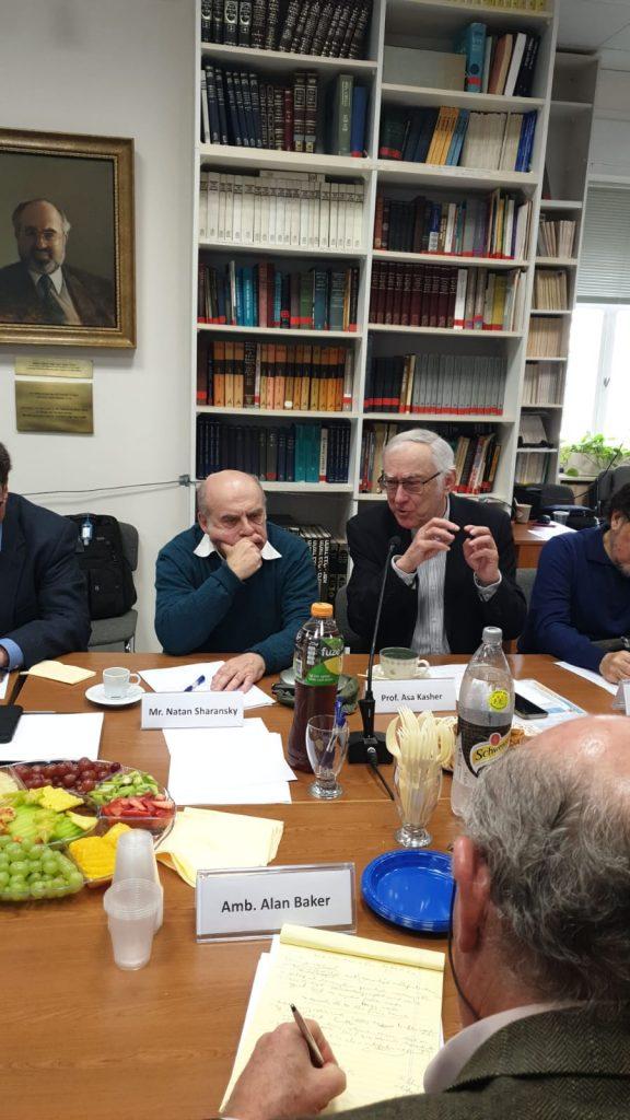 פרופ' אסא כשר ונתן שרנסקי // צילום: המרכז הירושלמי לענייני ציבור ומדינה