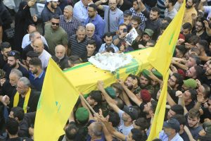 הלווית אנשי החזבאללה שנהרגו בתקיפה הישראלית בסוריה
