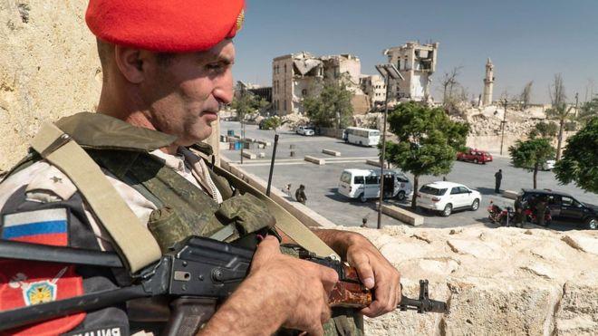 חיל רוסי מגדוד ההנדסה החמישי בסוריה