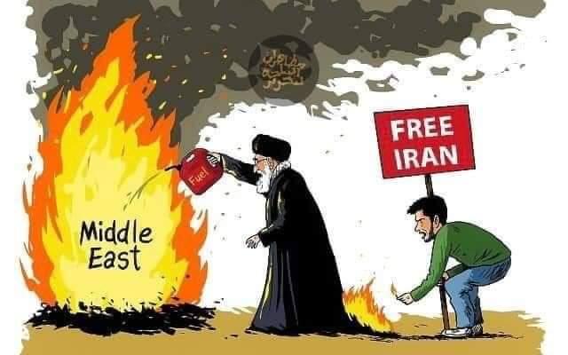 קריקטורה על ההפגנות באיראן ועל מעשי המשטר האיראני