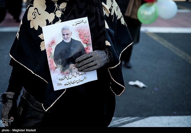 """""""שחר סולימאני"""" הפגנות תמיכה במשטר לרגל 41 שנים למהפכה"""