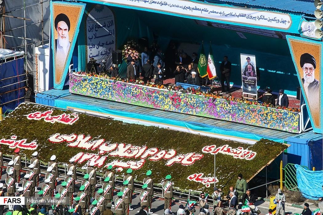 """רוחאני אמר כי מאז נפילת שלטון המלוכה באיראן, אמריקה חולמת עדיין לחזור לאיראן אך חלום זה לא יתממש, כי """"דרך המהפכה לא חוזרת לאחור""""."""