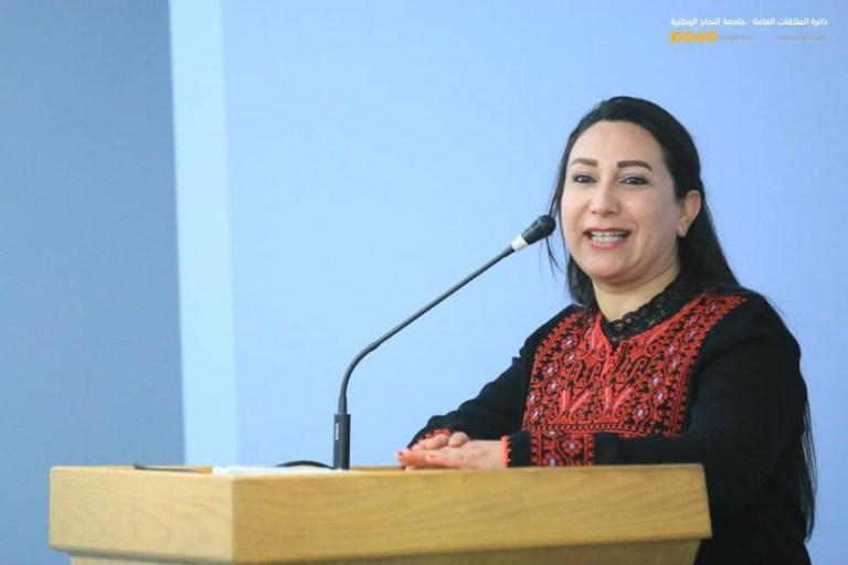 Dr. Maha Awad, sister of the previous Palestinian Health Minister. (Al Najah National University)