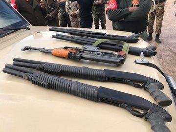 תמונה: נשקים טורקיים שנתפסו בלוב