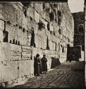 יהודים על יד הכותל   1859.
