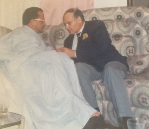 Entretien tête à tête entre le chef de la diplomatie mauritanienne, Saad Ahmed, et l'ambassadeur Eytan.(MAE)