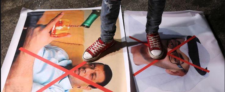 """הפגנות נגד דחלאן ברש""""פ // מקור: אל גזירה"""