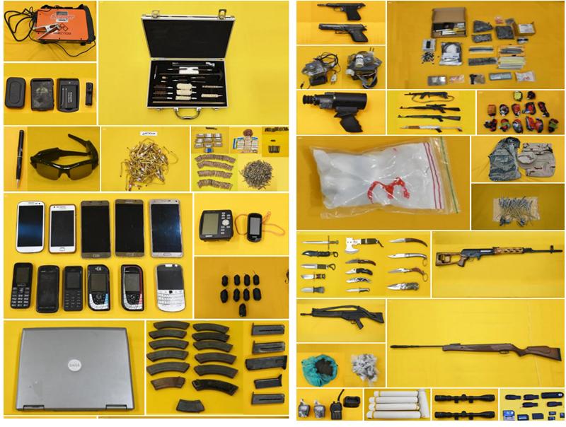 תצוגה של הנשק שנתפס - החשודה : איראן