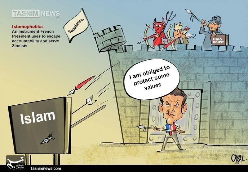 (קריקטורה – סוכנות הידיעות תסנים המזוהה עם משמרות המהפכה )