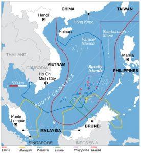 הגבול הימי באזור הים הסיני הדרומי // מקור: ויקפדיה
