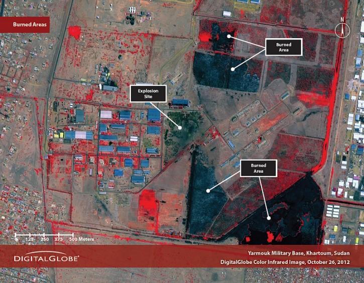 The Yarmouk base in Khartoum, Sudan, on October 26, 2012.  (United Nations, Satellite Sentinel Project)4
