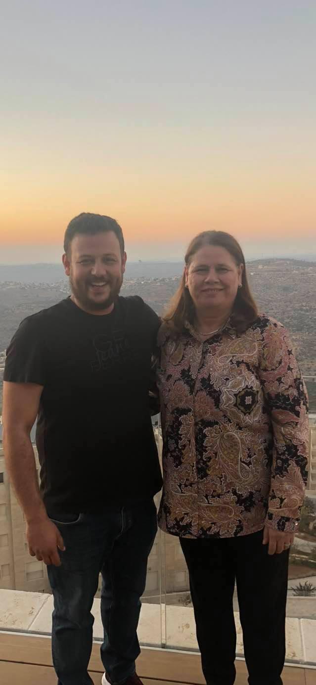 קאסם ברגותי ואשתו של מרוואן ברגותי