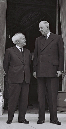 De-Gaulle-Ben-Gourion-en-1960-photo-Fritz-Cohen-GPO
