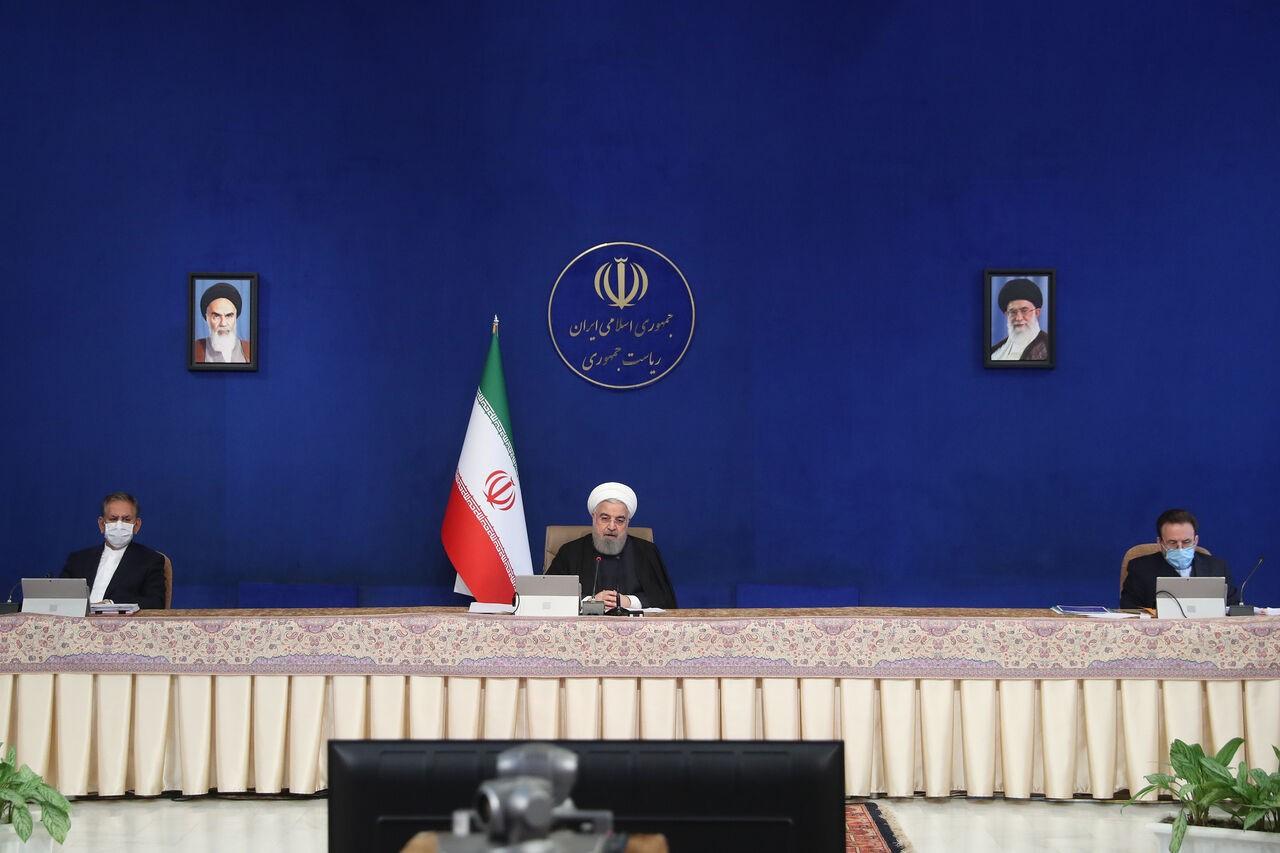 הנשיא וסגנו מתנגדים בתוקף להחלטת הפרלמנט להפר מהותיות את הסכם הגרעין בתגובה לחיסול פח'ריזאדה. תמונה IRNA 2.12.2020