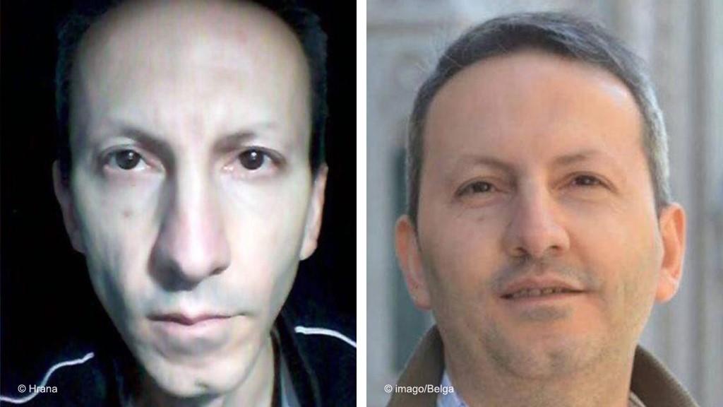 """הד""""ר אחמד רצ'א ג'לאלי, (ימין: בעת שהתגורר בשוודיה, שמאל: שנה לאחר אחזקה בכלא איראני) המדען הגולה האיראני המואשם בהעברת מידע מסווג למוסד שסייע לחיסול מדעני גרעין לפני עשור תמונה: DW"""