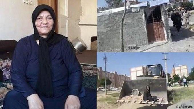 """אסייה פנאהי אישה שנרצחה לפני מספר חודשים כשביתה נהרסה ע""""י עיריית קרמאנשאה. הגולשים ציינו כי איראנים גרים בבתים עלובים ונרצחים כשמגנים עליהם אך נצראללה והנייה חוגגים עם הכסף האיראני."""