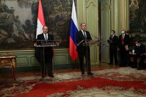 פגישה בין שר החוץ הרוסי לשר החוץ הסורי. פוטין ואסד