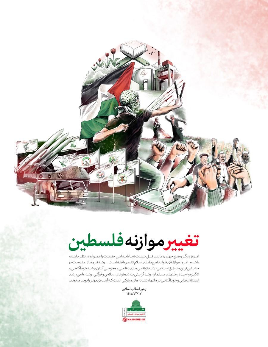 (לשכת המנהיג ח'אמנהאי :כרזת שינוי מאזן הכוח בפלסטין)