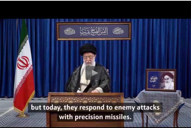 """( ח'אמנהאי : """"פעם הפלסטינים זרקו אבנים היום הם מגיבים בירי טילים מדוייקים""""."""