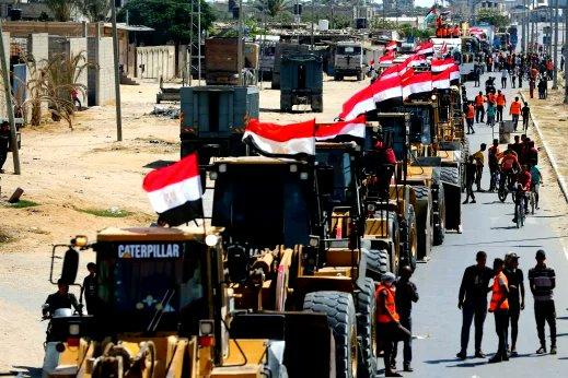 הסיוע ששולחת מצרים לעזה
