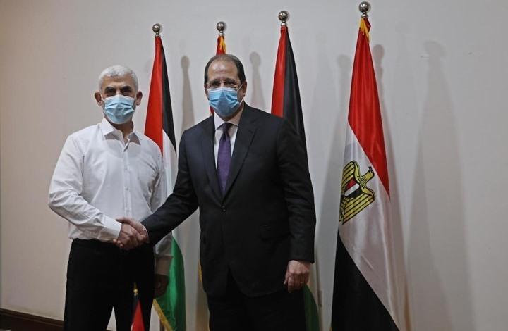 פגישה בין שר המודיעין המצרי לסינוור בעזה