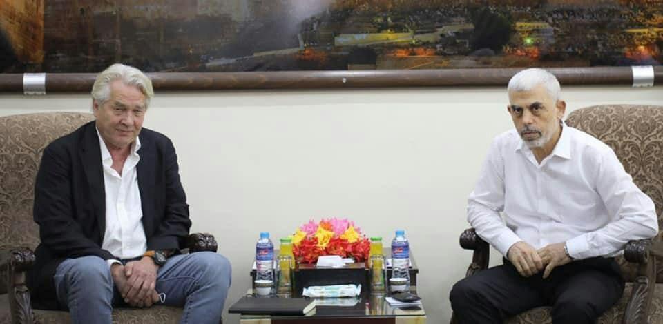 """הפגישה של סינוואר עם שליח האו""""ם"""
