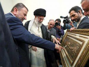 אלעארורי עם מנהיג העליון של איראן