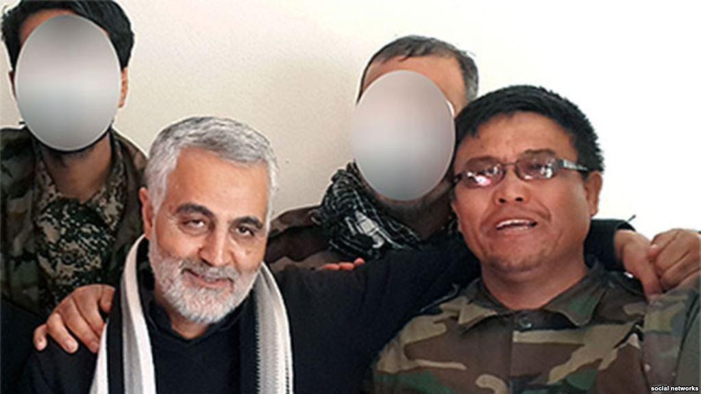 קאסם סולימאני עם Fatemiyoun Brigade