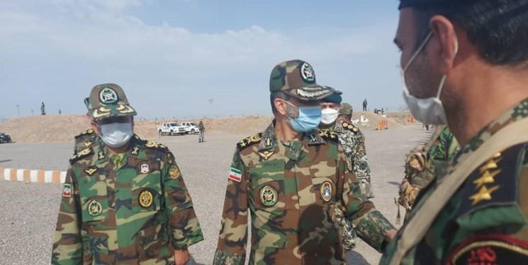 מפקד הצבא, מוסווי, בביקור בגבול איראן עם אפגניסטן, 14.7.2021, התמונה: סוכנות פארס